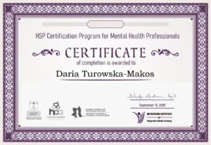 Certificate - turowska